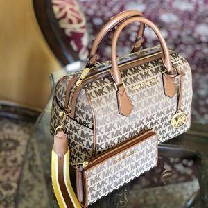NWT Michael Kors Ltd duffle handbag&wallet Set